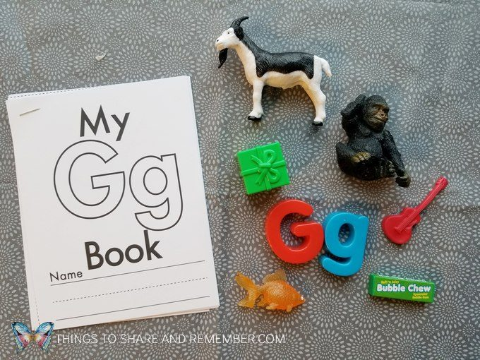 Little Letter Book from Mother Goose Time for preschoolers G is for gorilla, goat, grapes