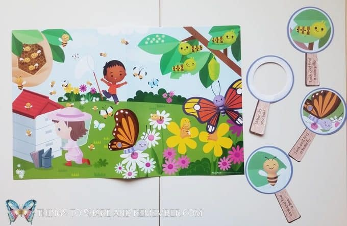 Bees and Butterflies theme poster from Mother Goose Time