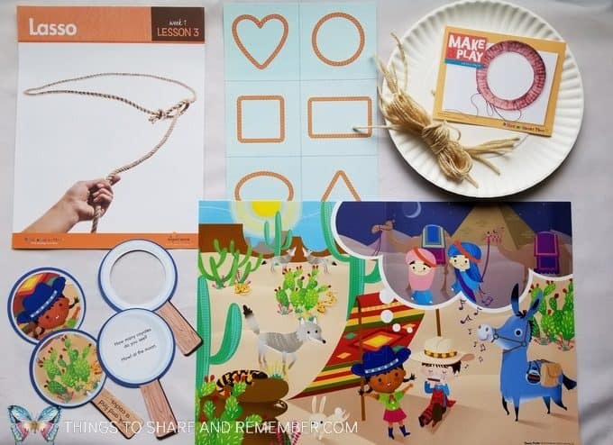 Lasso materials  & Theme Poster Desert Discovery theme of At the Rodeo Mother Goose Time preschool curriculum