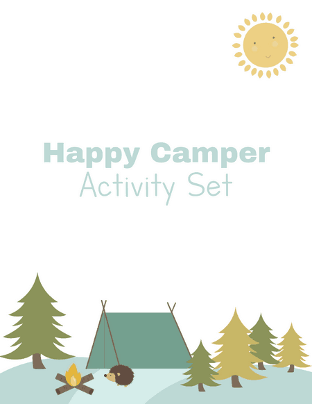 preschool camping activity printables
