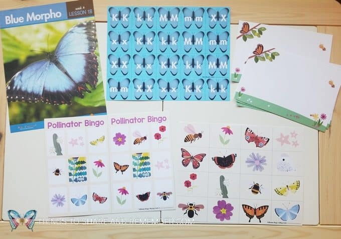 bees and butterflies theme blue morpho butterfly, butterfly bingo game