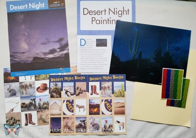 Desert Night daily topic in the Desert Night lessons of Desert Discovery by Mother Goose Time preschool curriculum