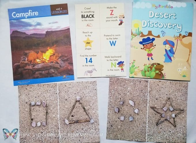 Campfire daily topic in the Desert Night lessons of Desert Discovery by Mother Goose Time preschool curriculum