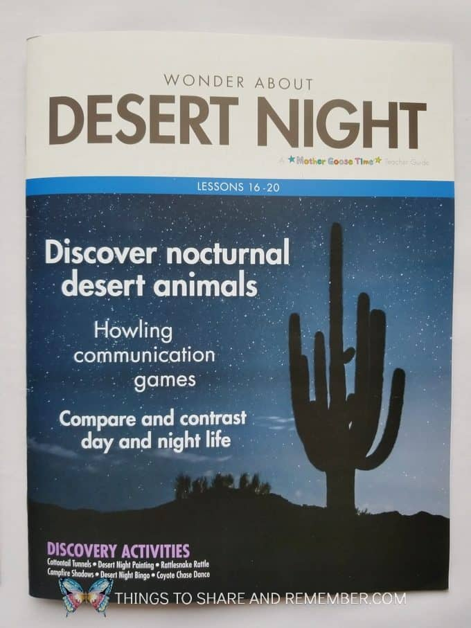 Desert Night Desert Discovery Theme from Mother Goose Time Preschool Curriculum