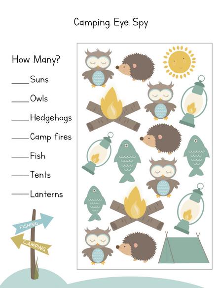 Let S Go Camping Preschool Printables Share Remember Celebrating Child Home