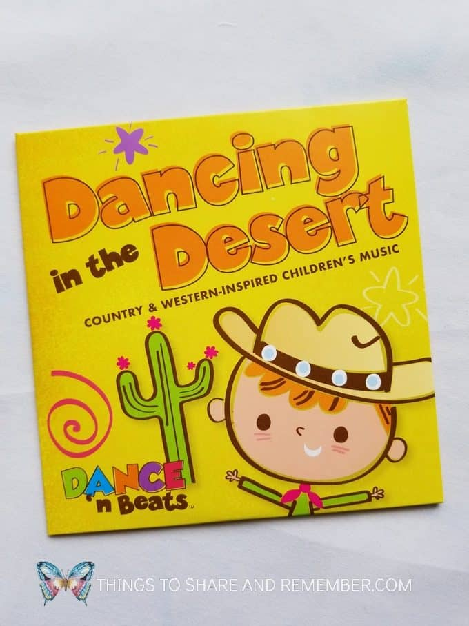 Dancing in the Desert Country and Western-inspired children's music CD from Mother Goose Time Dance 'n Beats Desert Discovery Theme preschool curriculum