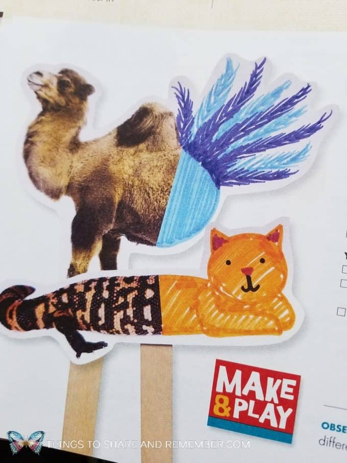Make & Play drawing puppets