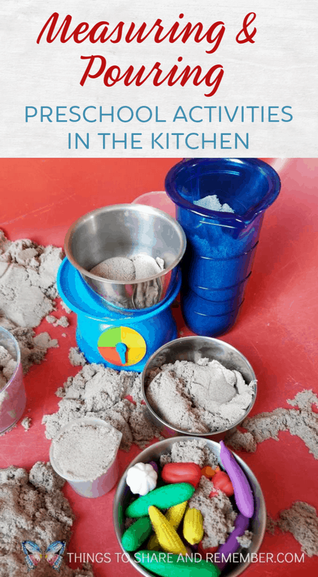 measuring and pouring preschool activities In the Kitchen