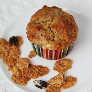 Banana Raisin Bran Muffins Recipe containing Post Raisin Bran cereal make a healthy breakfast for snack on the go.