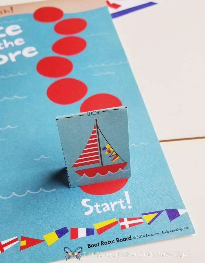 Race to the shore boat game for preschoolers bubbles and boats