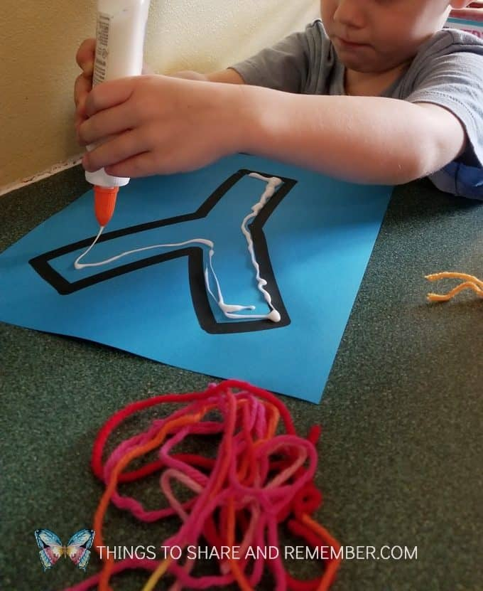 Y is for Yarn preschool literacy activity