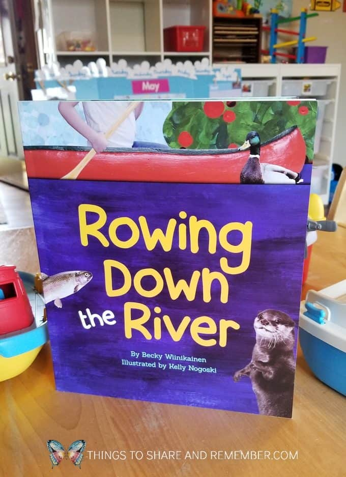 Rowing Down the River book from Experience Early Learning Mother Goose Time preschool curriculum Bubbles and Boats and Floats theme
