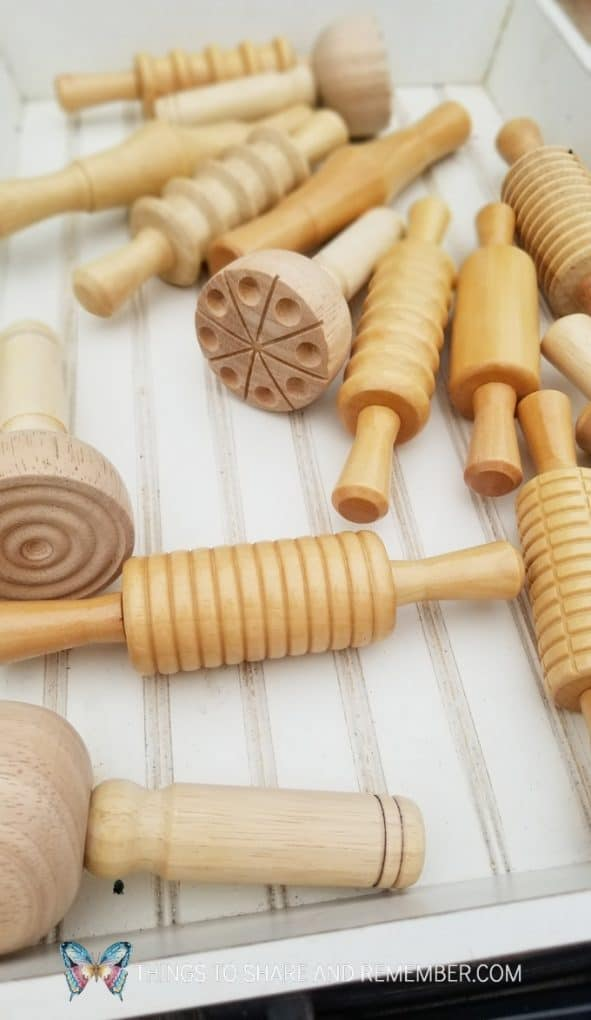 wood rollers for preschool play dough