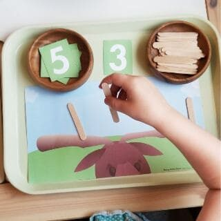 M is for Moose Antler Math Game