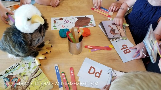 B is for bird preschool activities children looking for letters in books