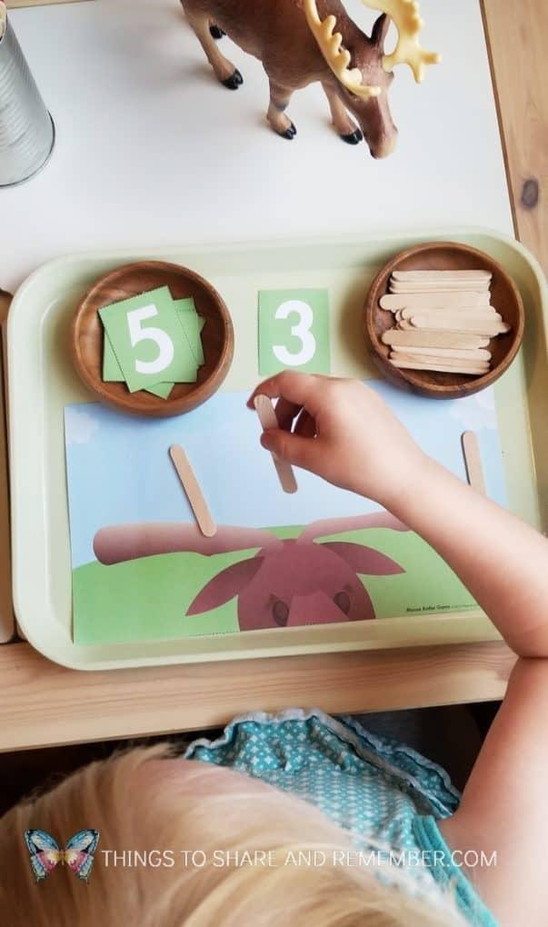 moose antler math game