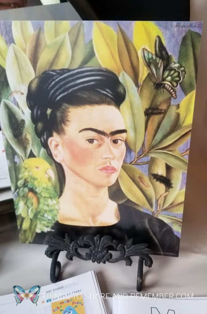 Frida Kahlo's self portrait with Bonito