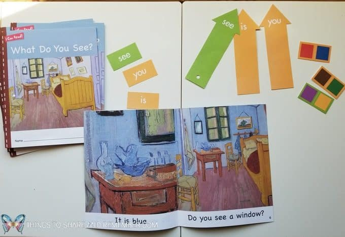 Van Gogh Bedroom in Arles I Can Read Books from Mother Goose Time with sight words