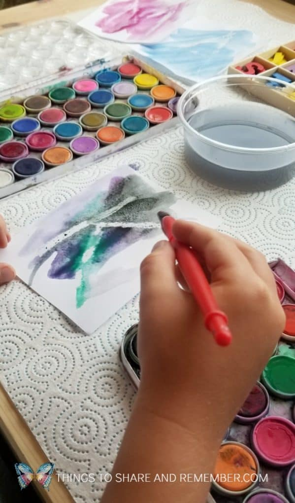 Magic Letters Watercolor Painting Literacy Activity