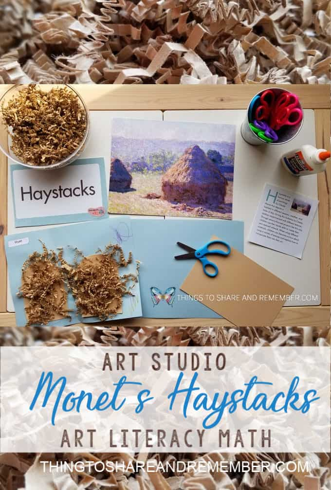 Monet's Haystacks Art Studio Mother Goose Time Preschool Curriculum