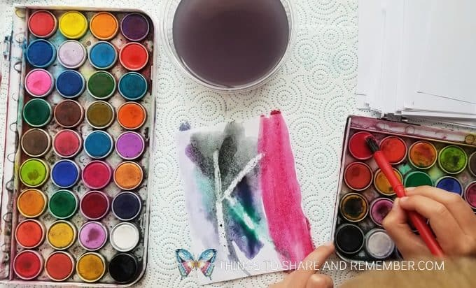 Watercolor Painting Literacy Activity