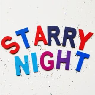 Starry Night Door Hanger - Art Studio Theme