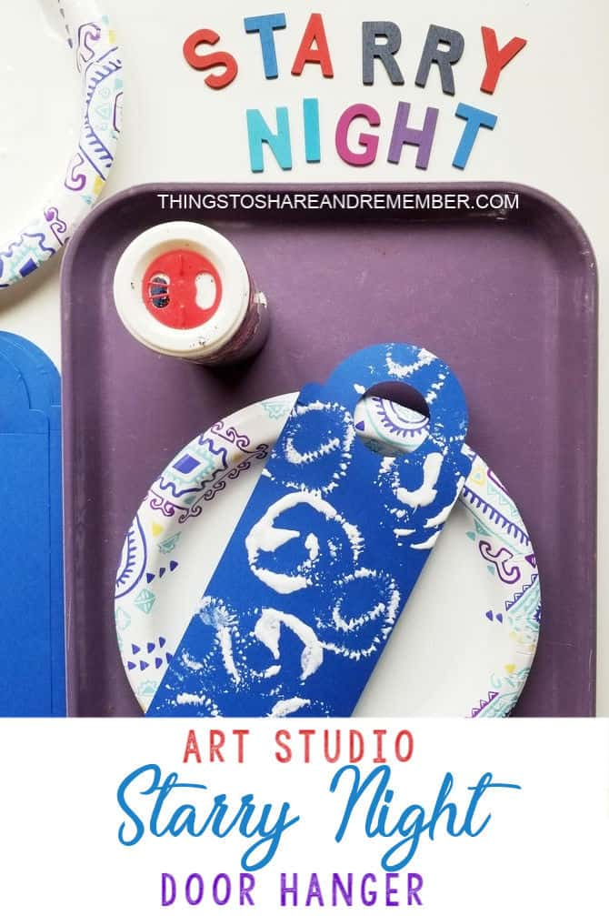 Starry Night Door Hanger - Art Studio Theme