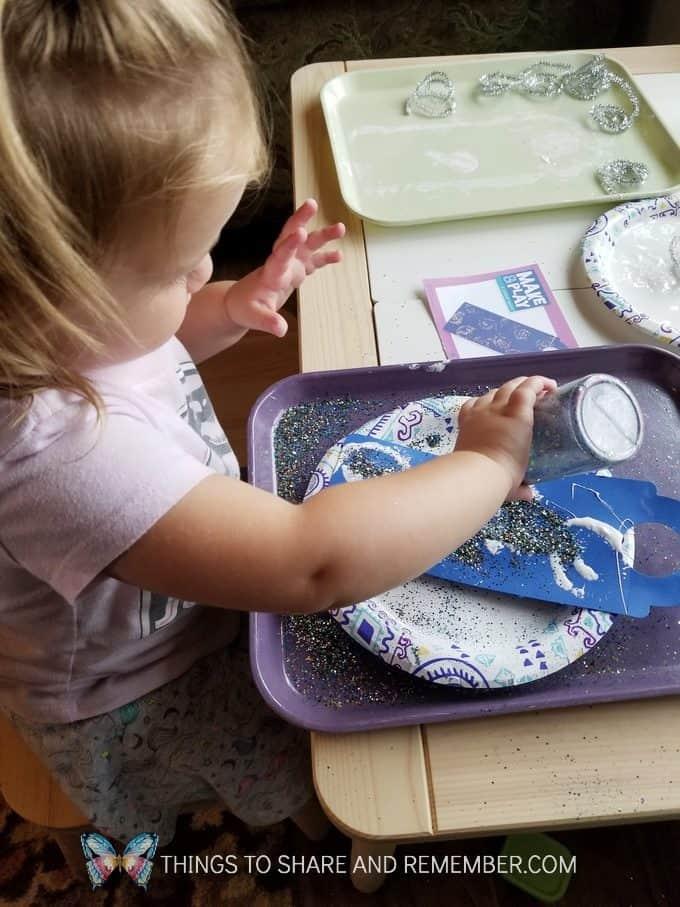 Starry Night Door Hanger Make & Play Activity Art Studio - Mother Goose Time Preschool Curriculum