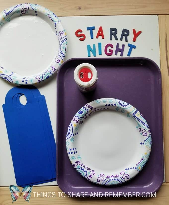 Starry Night Door Hanger Make & Play Activity Art Studio - Mother Goose Time Preschool Curriculum