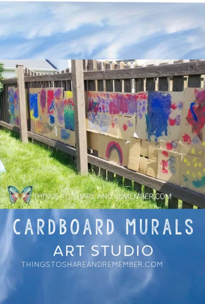 cardboard murals