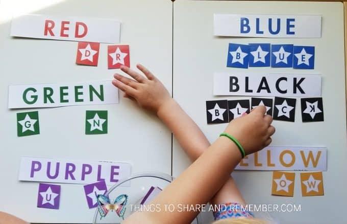 Starry Words Small Group Literacy activity Starry Night Door Hanger Make & Play Activity Art Studio - Mother Goose Time Preschool Curriculum