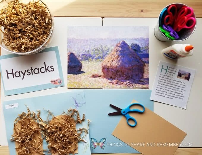 monet's haystacks creative art