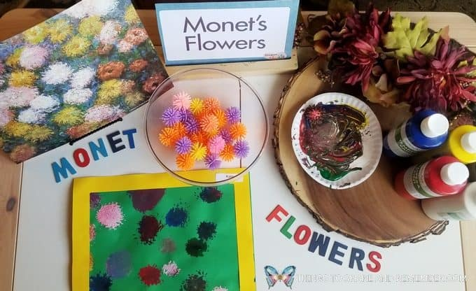 Monet's Flowers | Art Studio | Mother Goose Time