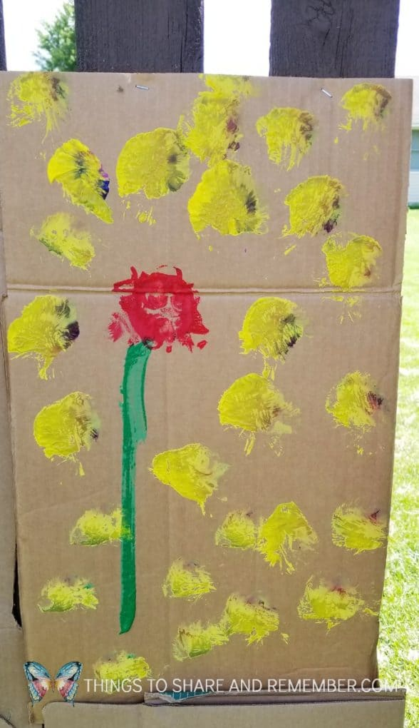 Making Cardboard Murals outdoors | Mother Goose Time Art Studio | Lesson 4 Fresco & Mural