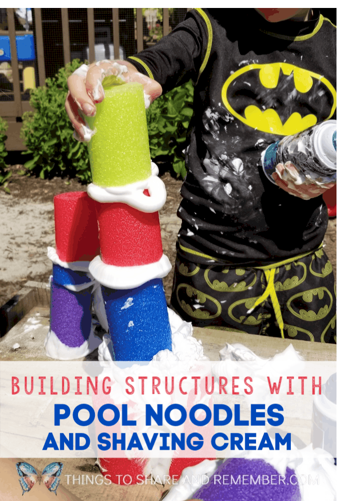 Structure Building with Pool Noodles & Shaving Cream