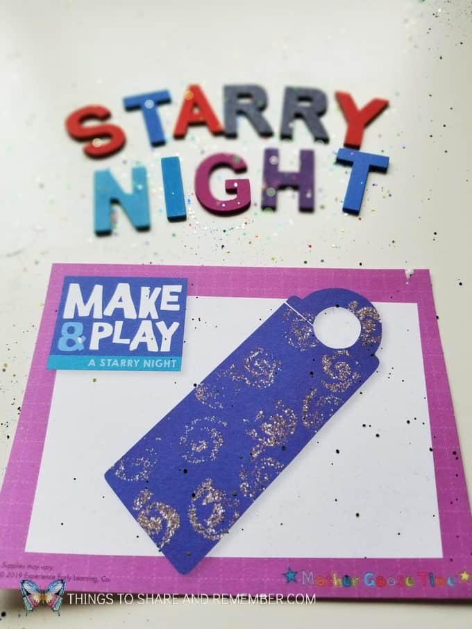 Starry Night Make & Play Door Hanger craft preschool art theme