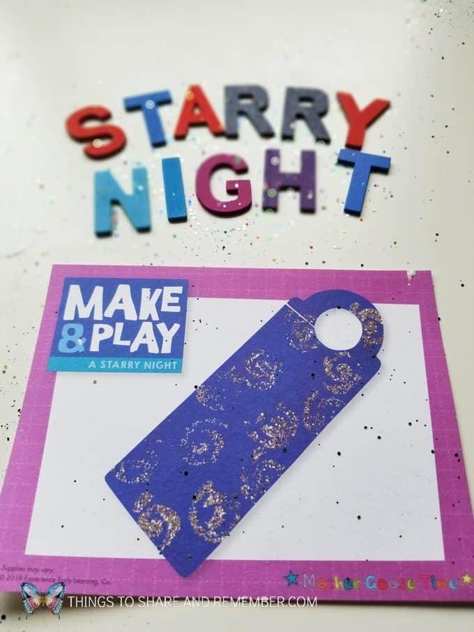 Starry Night Make & Play Door Hanger craft preschool art theme