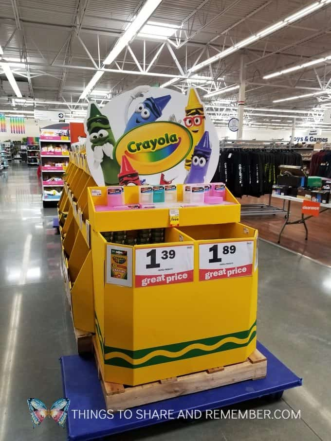 Crayola display at Meijer Back to School Teacher Discount sale