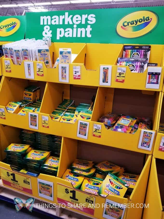 Markers and Paint Back to School Supplies at Meijer