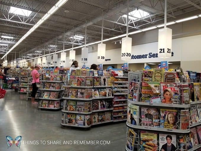 Meijer check outs back to school shopping