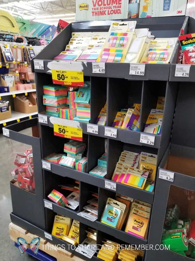 Post it Notes at Meijer Back to School Supplies Sale with teacher discount coupon