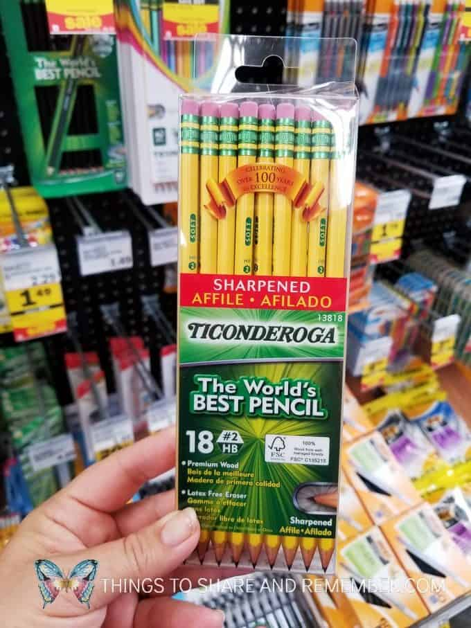 pencils back to school supplies at Meijer