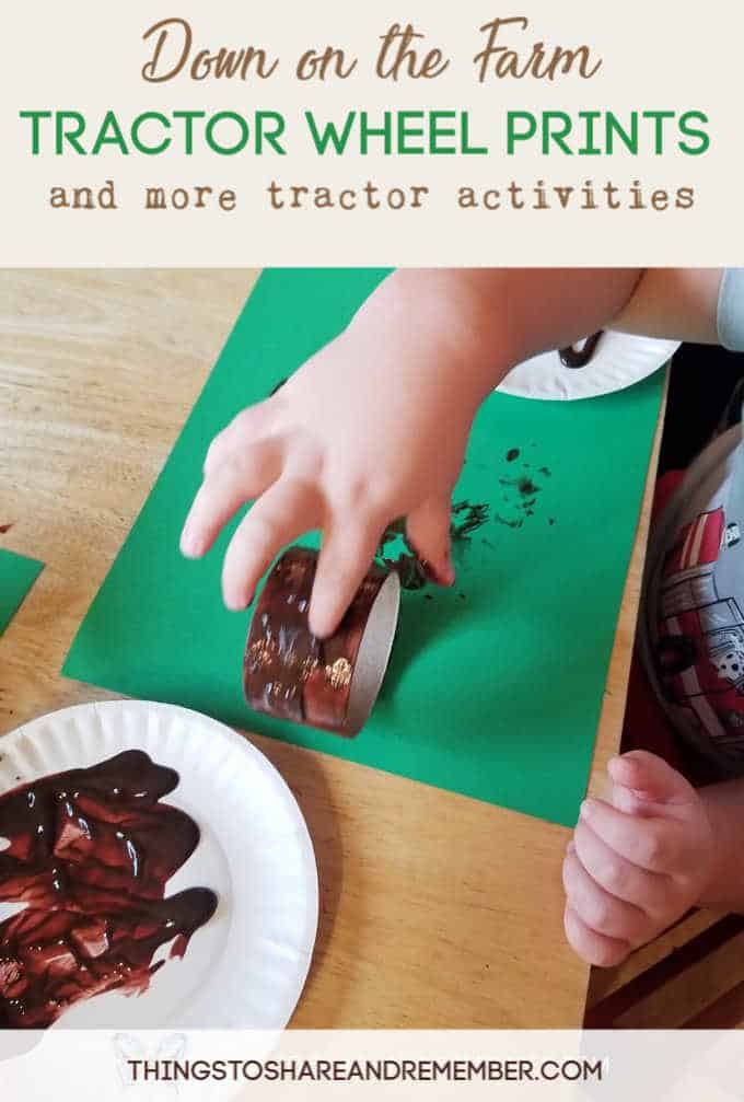 Down on the Farm Tractor Wheel Prints and more tractor activities from Experience Preschool Mother Goose Time preschool curriculum