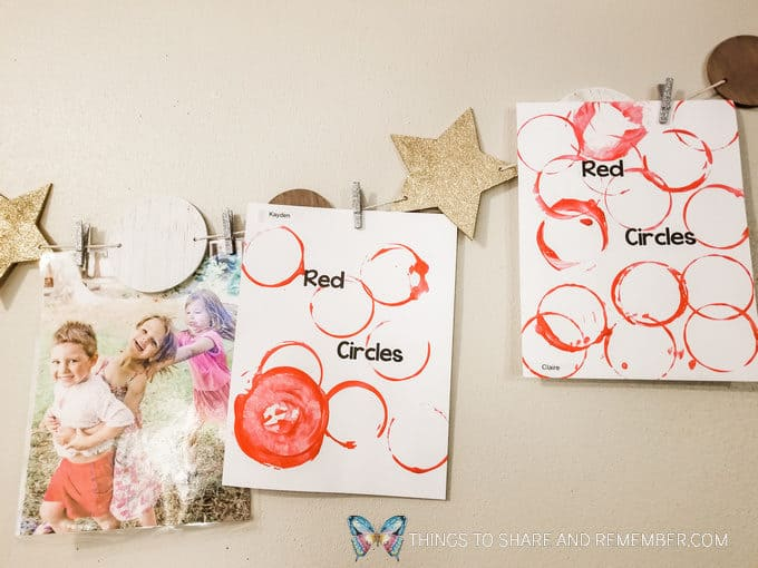 Colors and Shapes: Red Circles Preschool Shape Activities with Mother Goose Preschool Curriculum
