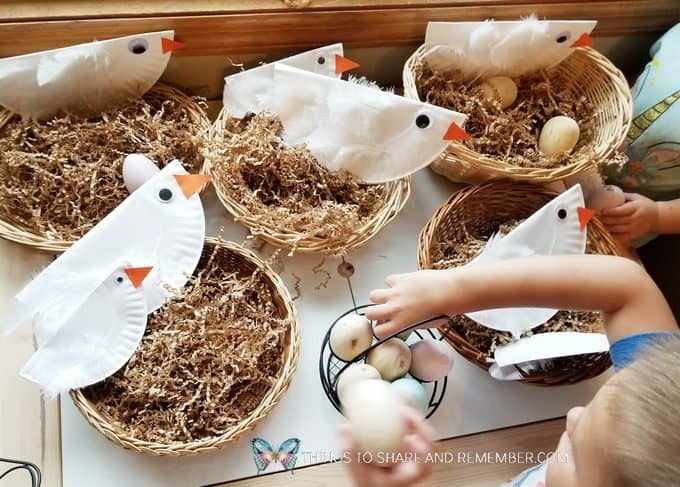 Chicken Coop Dramatic Play STEAM Station Idea from Experience Preschool Mother Goose Time curriculum Down on the Farm Theme