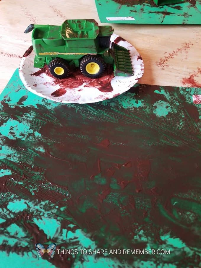 tractor wheels prints