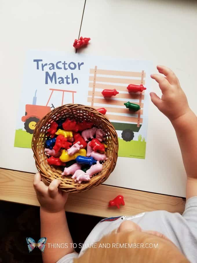 Tractor Math Game Experience Preschool Mother Goose Time
