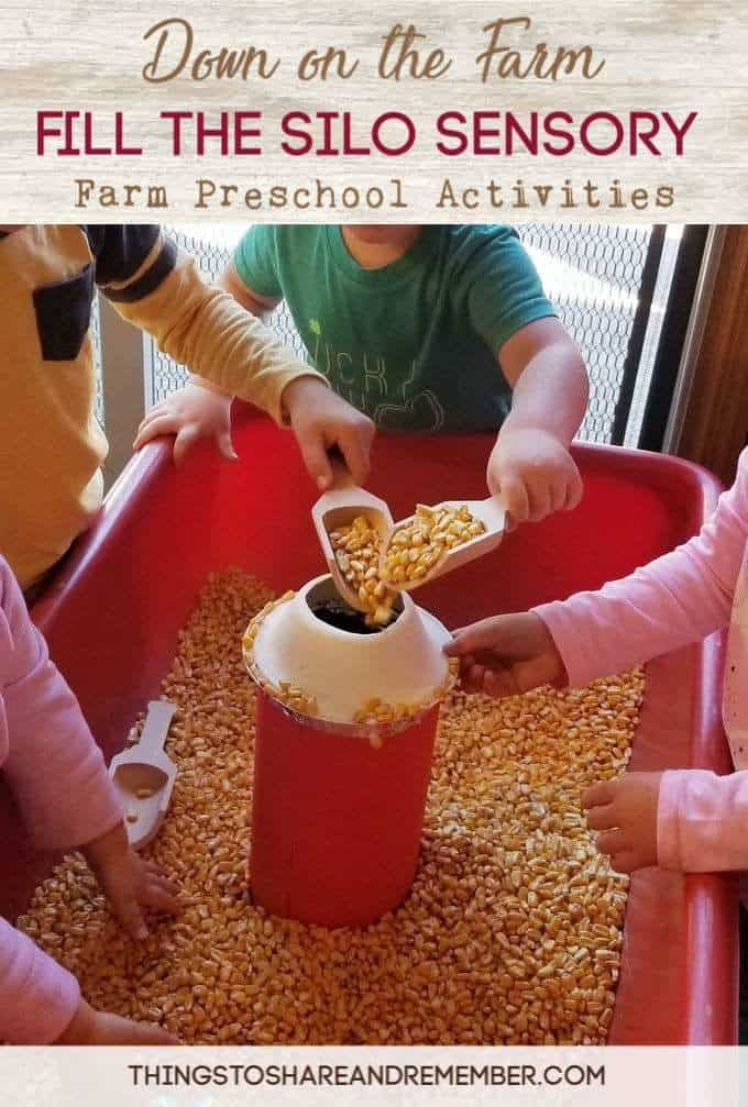 The farm theme is one of the most fun themes in preschool! There are so many aspects of the farm - animals, foods, types of machines and work that takes place, it's great way to learn preschool concepts. See some of our farm activities including fill the silo farm sensory bin, silo shakers and feed the animals game from the Down on the Farm preschool curriculum.