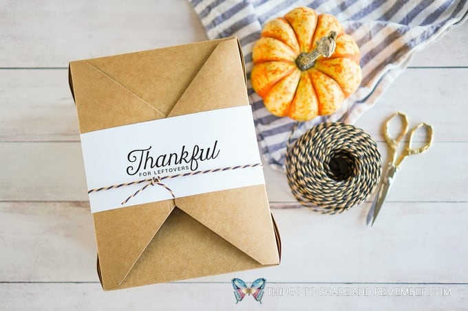 Thankful for Leftovers Printable Labels Thanksgiving leftover Guest Boxes