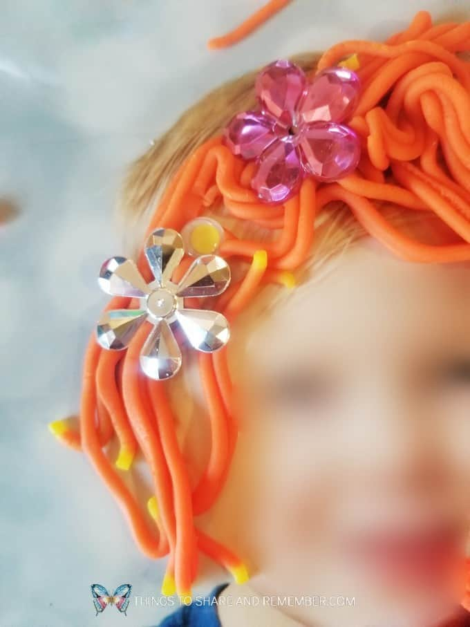 Play Dough Hair Styles play dough hair and photo mats Community Helpers Hairdressers preschool theme from Experience Early Learning